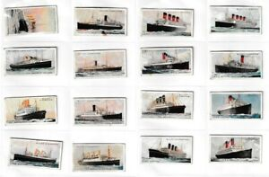 16  WD & HO Wills Cigarette Cards – Merchant Ships of the World – 1924 Listed H1