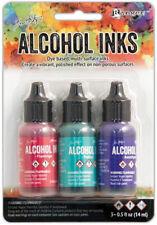 Tim Holtz Alcohol Ink .5oz 3/Pkg Multi-Surface -Flamingo/Patina/Amethyst NEW