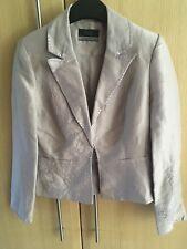fab PRINCIPLES light mauve coloured sequin embellished jacket size 6 petite
