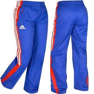 Adidas Pluie Pantalon Femmes Ueberhose Sport de Survêtement Bleu/Rouge/Blanc