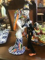 Day of The Dead Catrina Dancing Married Couple Mexican Talavera Ceramic NEW
