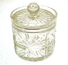 Lead Crystal large lidded pot starburst design CLT93