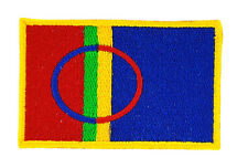 FLAG PATCH PATCHES SAMI FINLAND - SWEDEN for BACKPACK IRON ON EMBROIDERED