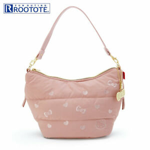 ROOTOTE 2WAY Shoulder Bag Hello Kitty Feather Pink Lightweight Japan DHL NEW