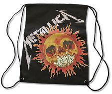 METALLICA - SUN PUSHEAD BLACK CINCH DRAWSTRING BAG BACK PACK NEW OFFICIAL