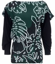 VIVIENNE WESTWOOD WOMENS 'MOSES' GREEN PLANT PRINT TOP *SIZE:XS* BNWT *RRP £250*