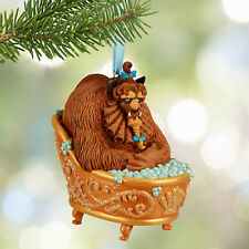 DISNEY STORE THE BEAST BATHING TUB Sketchbook Ornament BEAUTY & THE BEAST 2015