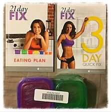 21 Day Fix Diet Plan Book WITH CONTAINERS and quick Start Booklet (NO DVD'S)