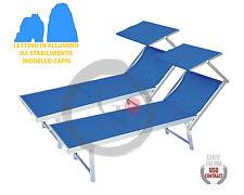 LETTINI DA MARE Prendisole Sdraio Alluminio Piscina Mare Spiaggia Giardino