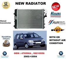 FOR OPEL VAUXHALL AGILA 4705904 09210556 NEW RADIATOR ** OE QUALITY **