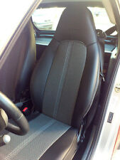 SMART ROADSTER LEATHERETTE and TWO TONE SYNTHETIC FISHNET CAR SEAT COVERS