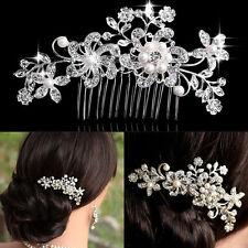 Peigne à Cheveux Strass Accessoire de Cheveux de Mariée Bijoux de Mariage 2 Type