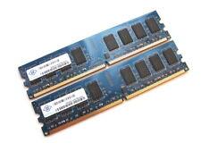 Nanya NT2GT64U8HD0BY-AD 4GB (2x2GB Kit) PC2-6400U-666 2Rx8 DDR2 RAM Memory