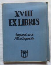 XVIII  Ex Libris toegelicht door M. Van Coppenolle – N° 205 – 1938