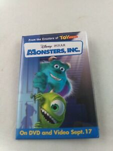 Disney MONSTERS INC. promo DVD Video pin pinback putton exclusive RARE