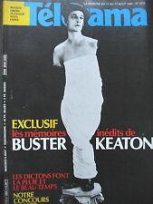 1804 BUSTER KEATON DICTONS ET METEO JAMES MASON LE FACTEUR PSY TELERAMA 1984