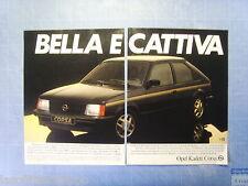 QUATTROR982-PUBBLICITA'/ADVERTISING-1982- OPEL CORSA -2 fogli