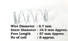 0,7 mm di diametro del wire X 16.3 mm D x 37mm lunghezza della molla a compressione in acciaio fai da te Strumento