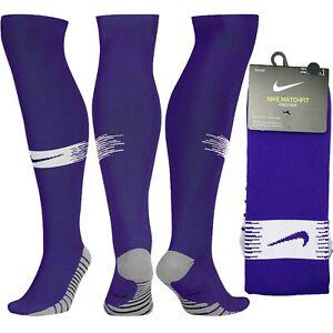 Nike MatchFit DRI-FIT Knee High Purple Soccer Socks SX6836-547 Over The Calf OTC