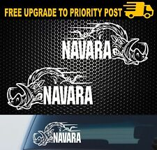 2x nissan NAVARA 4X4 DECALS D40 D22 D21 HOG stickers