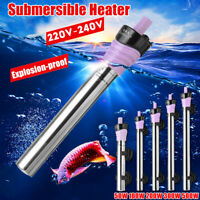 500W Aquarium Submersible Heater Anti-Explosion Fish Tank Water Adjustable !