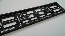 Par Amg Brabus Negro Para Mercedes Benz coche matrícula titulares