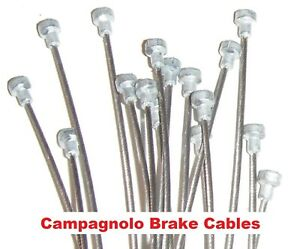 Pairs of Campagnolo Road Bike Brake Cables Stainless Steel or Galvanised +Crimps