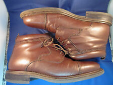 """STAFFORD 6"""" 100% LEATHER BOOTS SHOES ITALY MENS 9M VERY NICE, SOFT,QUICK SHIP!"""