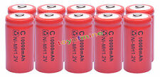 10 x C ricaricabile 1.2V Ni-MH 10000mAh della batteria RED delle cellule