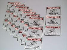 Security CCD Cameras CCTV Camera Warning Sticker 24 Lot