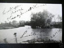LeMars, Iowa~1908 Canoe on Lake ~ Old RPPC