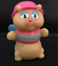 Vintage 1985 Hasbro Playskool Glow Worm Glo Friends Finger Puppet pink hat