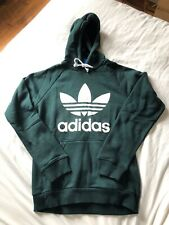 Adidas Trefoil Big Logo Hoodie Small Green Night BB Firebird Superstar Jacket