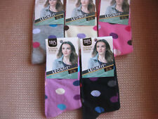 Ladies/Girls cotton socks by Leonfit, sizes 3-5, 5-7, small spot pattern