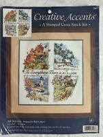 All Seasons 1999 Dimensions Creative Accents Stamped Cross Stitch Kit #7927 NIP