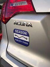 ASBURY PARK NEW JERSEY SHORE   BEACH BADGE CAR AUTO MAGNET-----
