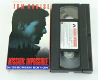 Tom Cruise Mission Impossible VHS Widescreen Edition 1996 Brian De Palma