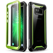 Samsung Galaxy S8 Plus Case Full Body Bumper Case & Screen Protector Black/Green