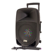 Ibiza Portable PA Speaker System 700w With Radio Mic Bluetooth SD LED Lights