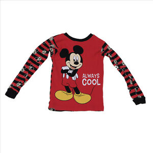 EUC Childs Micky Mouse Red Long Sleeve Top US size 5T