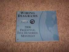 2006 Ford Five Hundred Electrical Wiring Diagram Manual SE SEL CVT Limited V6