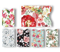 Blocking 5 ID Credit Card & 1 Passport Holder Protector Sleeves Flowers #LAC