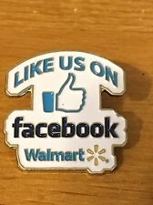 Rare Walmart Lapel Pin Like Us On Facebook Wal-mart Pinback