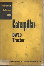 Caterpillar Dw10 Tractor Servicemen's Reference Book
