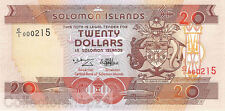 Solomon Islands 20 Dollars 1996 Unc Pn 21