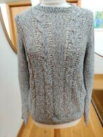 Massimo Dutti Women's Summer Cotton Jumper in Blue - Netted style Size M