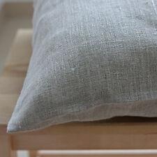 Rein Leinen Kissenbezug 40x80 cm Reissverschluss (Einfarbig Beige, Grau, Weiss)