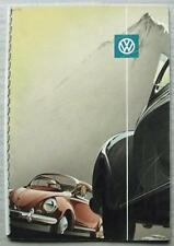 VOLKSWAGEN VW BEETLE Car Sales Brochure c1951? GERMAN #W 1/15 Saloon & Cabriolet