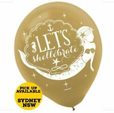 Mermaid Wishes Latex Balloons Pack Of 6 One Size