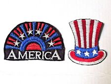 Usa Patches America Flag Uncle Sam Patriotic Embroidered Sew-On